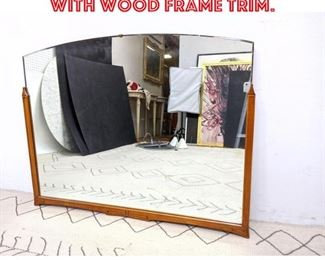 Lot 2168 Vintage Wall Mirror with Wood Frame Trim.