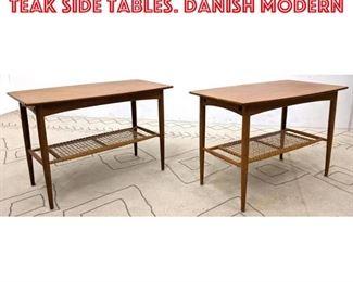 Lot 2173 Pair DUX Swedish Modern Teak Side Tables. Danish modern