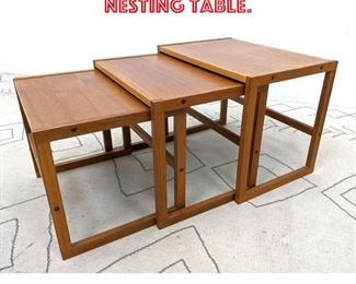 Lot 2175 Danish Modern Teak Nesting Table.