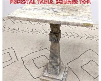 Lot 2178 Decorative Marble Top Pedestal Table. Square top.