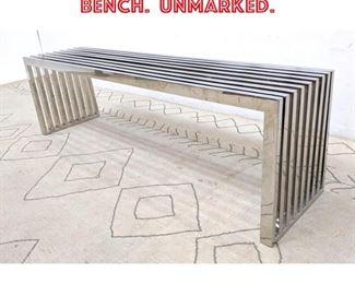 Lot 2182 DIA Style Chrome Slat Bench. Unmarked.
