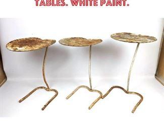 Lot 2185 3pc SALTERINI Lily Pad Leaf Tables. White paint.