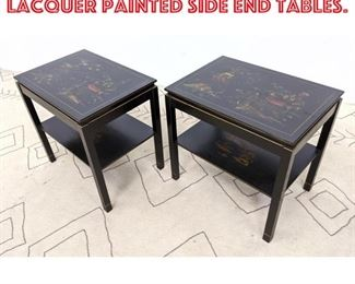 Lot 2188 Pair KATHERINE HERRICK Lacquer Painted Side End Tables.