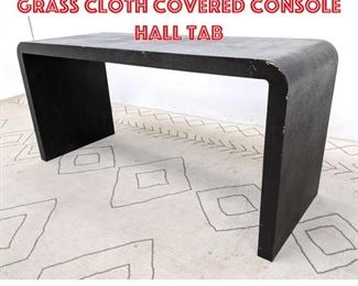 Lot 2191 Mid Century Modern Grass Cloth Covered Console Hall Tab