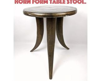 Lot 2192 Contemporary Metal Horn Form Table Stool.