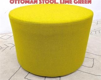 Lot 2193 OFS Brands Round Ottoman Stool. Lime Green