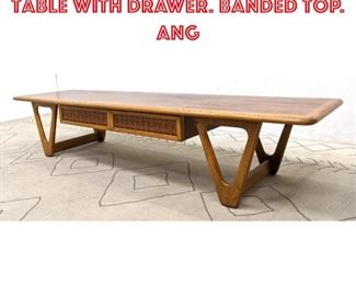 Lot 2203 Lane Coffee Cocktail Table with Drawer. Banded Top. Ang