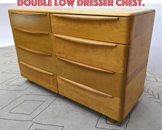 Lot 2204 Heywood Wakefield Double Low Dresser Chest.
