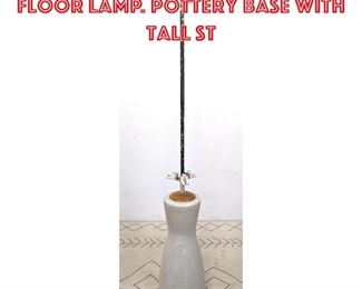 Lot 2208 KARLSRUHE Pottery Floor Lamp. Pottery base with tall st