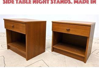 Lot 2222 FBJ Danish Modern Teak Side Table Night Stands. Made in
