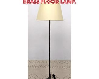 Lot 2228 Jacques Adnet Style Brass Floor Lamp.