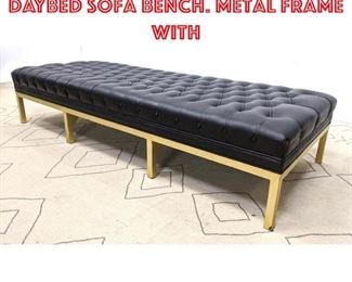 Lot 2235 Contemporary Modern Daybed Sofa Bench. Metal Frame with