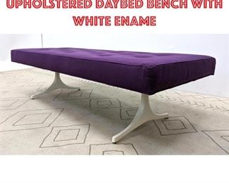 Lot 2236 HERMAN MILLER Upholstered Daybed Bench with White ename