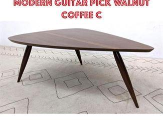 Lot 2238 PHILLIP POWELL Style Modern Guitar Pick Walnut Coffee C