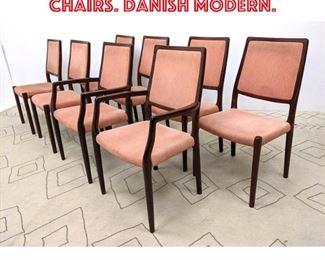 Lot 2241 8pcs J.L. MOLLER Dining Chairs. Danish Modern.