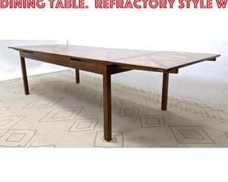 Lot 2242 TOMMI PARZINGER Style Dining Table. Refractory Style w