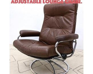 Lot 2243 EKORNES Stressless Adjustable Lounge Chair.