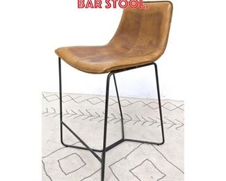 Lot 2246 Leather and Iron Bar Stool.