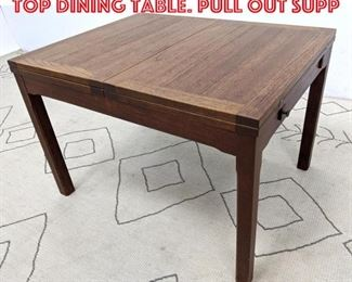 Lot 2249 Danish Modern Teak Flip Top Dining Table. Pull out supp