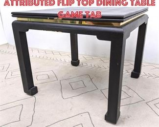 Lot 2253 Karl Springer Attributed Flip Top Dining Table Game Tab