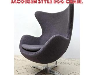 Lot 2257 Contemporary Arne Jacobsen Style Egg Chair.