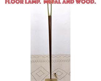 Lot 2260 Mid Century Modern Floor Lamp. Metal and Wood.