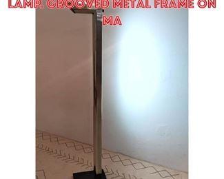 Lot 2261 80s Italian Style Floor Lamp. Grooved metal frame on ma