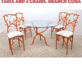 Lot 2262 Decorator Dinette Set. Table and 4 Chairs. Branch Cora