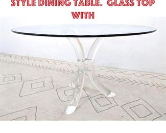 Lot 2264 Hill Manufacturing Style Dining Table. Glass top with