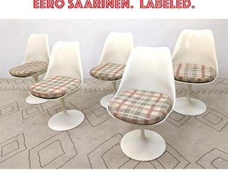 Lot 2267 Set 5 KNOLL Tulip Chairs. EERO SAARINEN. Labeled.