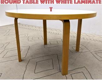Lot 2270 ALVAR AALTO for ARTEK Round Table with White Laminate T