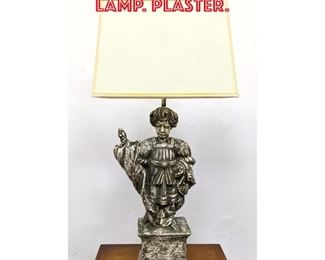 Lot 2276 Classical Figural Table Lamp. Plaster.