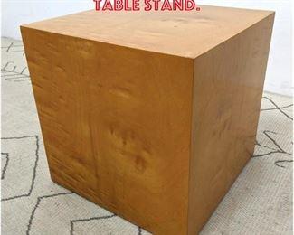 Lot 2277 DUNBAR Burl Wood Cube Table Stand.