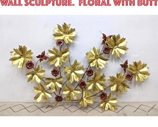 Lot 2281 JOHN CODY Mixed Metal Wall Sculpture. Floral with butt