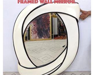 Lot 2284 Modernist Black White Framed Wall Mirror.