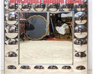Lot 2285 TURNER Wall Mirror with Bubble Mirror Frame.