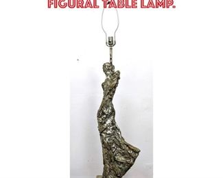 Lot 2289 Abstract Expressionist Figural Table Lamp.