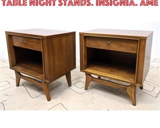 Lot 2290 Pair KENT COFFEY Side Table Night Stands. Insignia. Ame