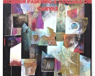 Lot 2293 Lg JAMES JURCO Post Modern Painting Collage on Canvas