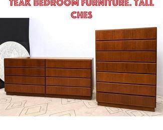 Lot 2297 KOMFORT Danish Modern Teak Bedroom Furniture. Tall Ches
