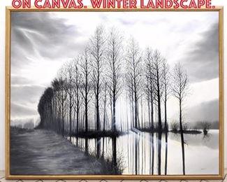 Lot 2298 TRONGSAK Oil Painting on Canvas. Winter Landscape.