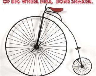 Lot 2299 C. JERE Wall Sculpture of Big Wheel Bike. Bone Shaker.