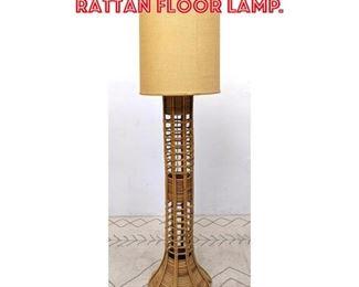 Lot 2301 Miami Modern Bamboo Rattan Floor Lamp.