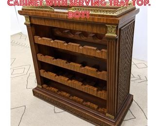 Lot 2305 MAITLAND SMITH Bar Cabinet with Serving Tray Top. Bott