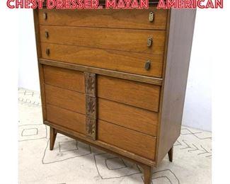 Lot 2306 BASSETT FURNITURE Tall Chest Dresser. MAYAN American