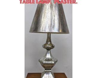 Lot 2309 Decorator Silver Finish Table Lamp. Plaster.