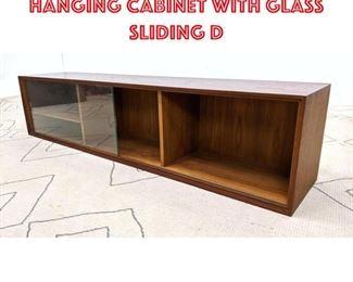 Lot 2312 Danish Modern Teak Hanging Cabinet with Glass Sliding D