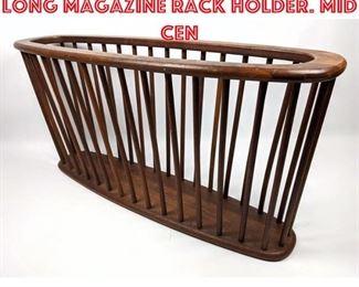 Lot 2314 ARTHUR UMANOFF Extra Long Magazine Rack Holder. Mid Cen