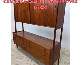 Lot 2315 HANS WEGNER RY MOBLER Credenza Cabinet. Doors over draw