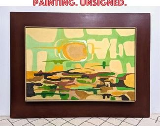 Lot 2316 Modernist abstract Painting. Unsigned.